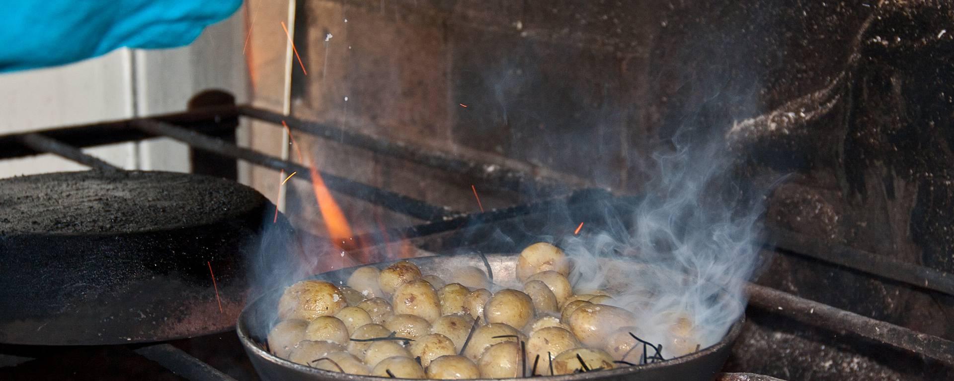 Préparation de la pomme de terre de l'Ile de Ré,