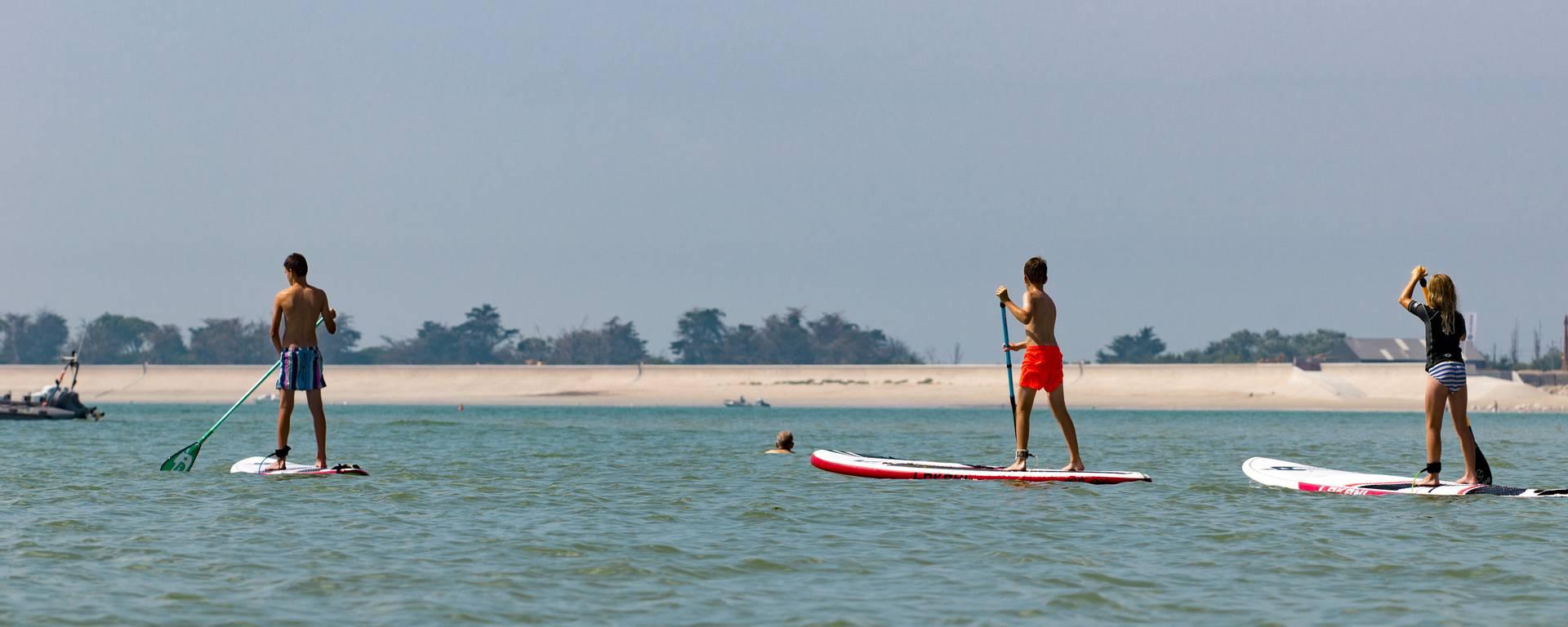 Le paddle en mer par Yann Werdefroy