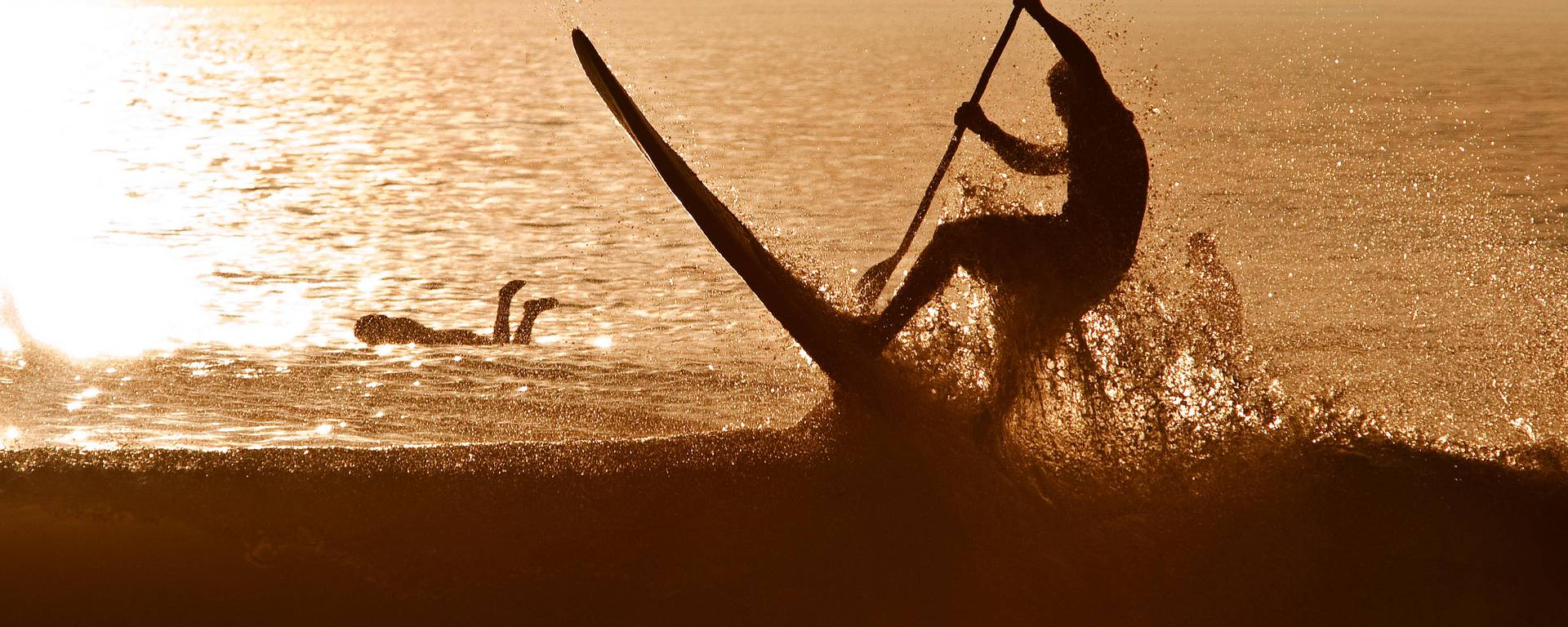 Le paddle en mer par François Blanchard