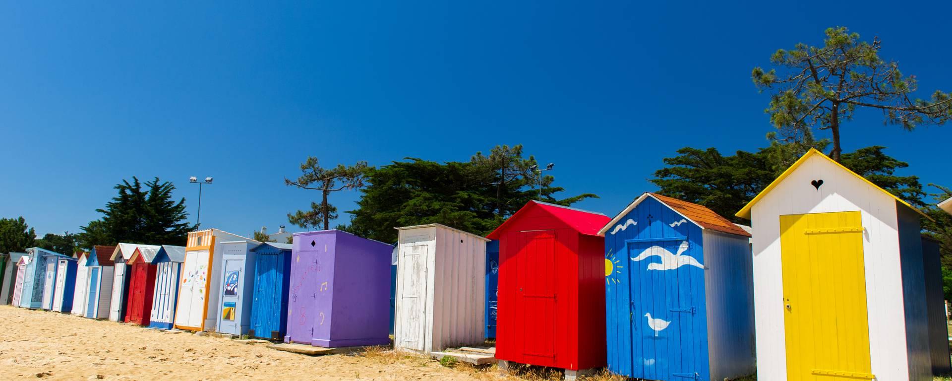 Cabanes sur les plages de l'île d'Oléron