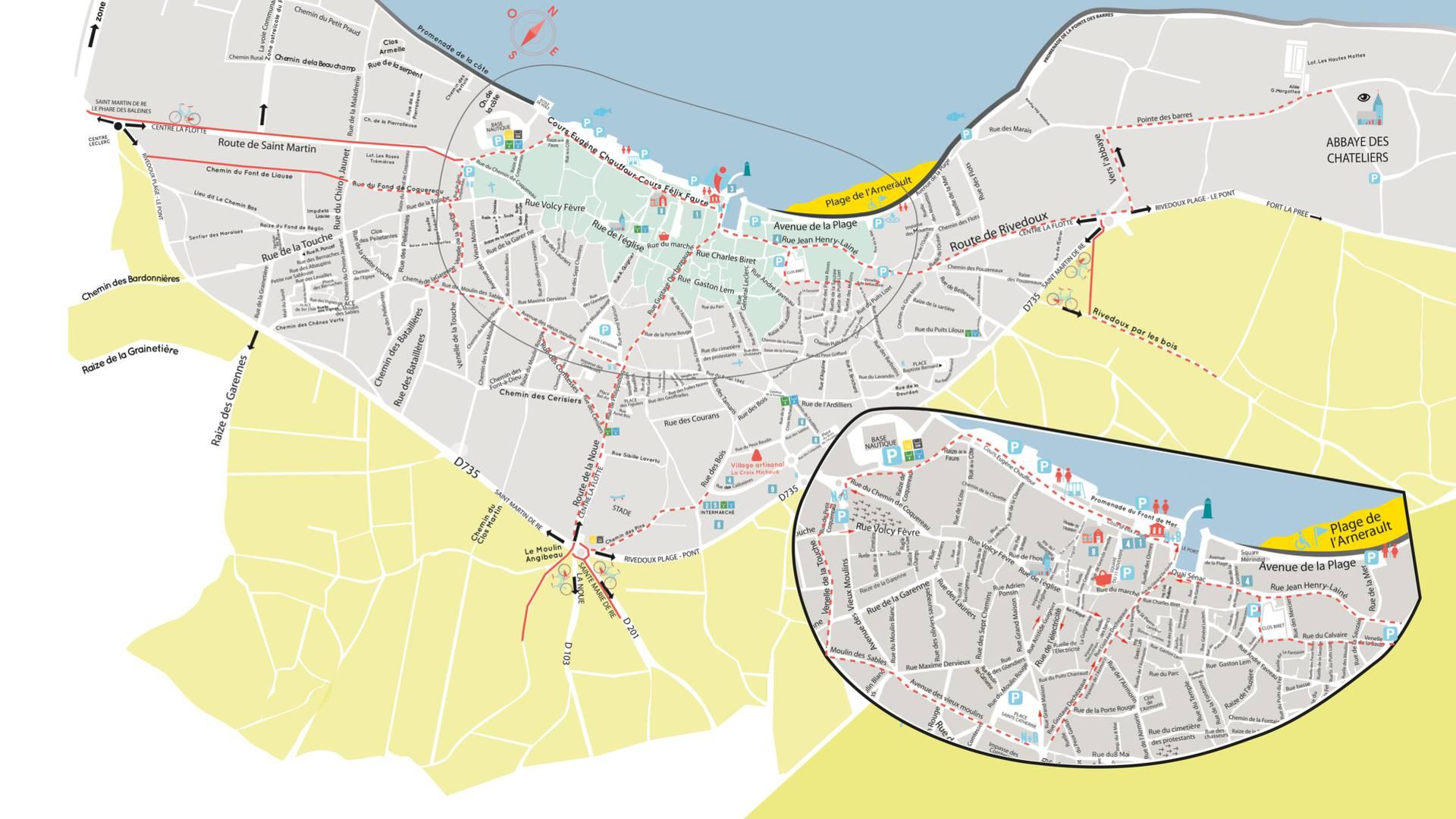 Plan Ile de Ré, village de La Flotte