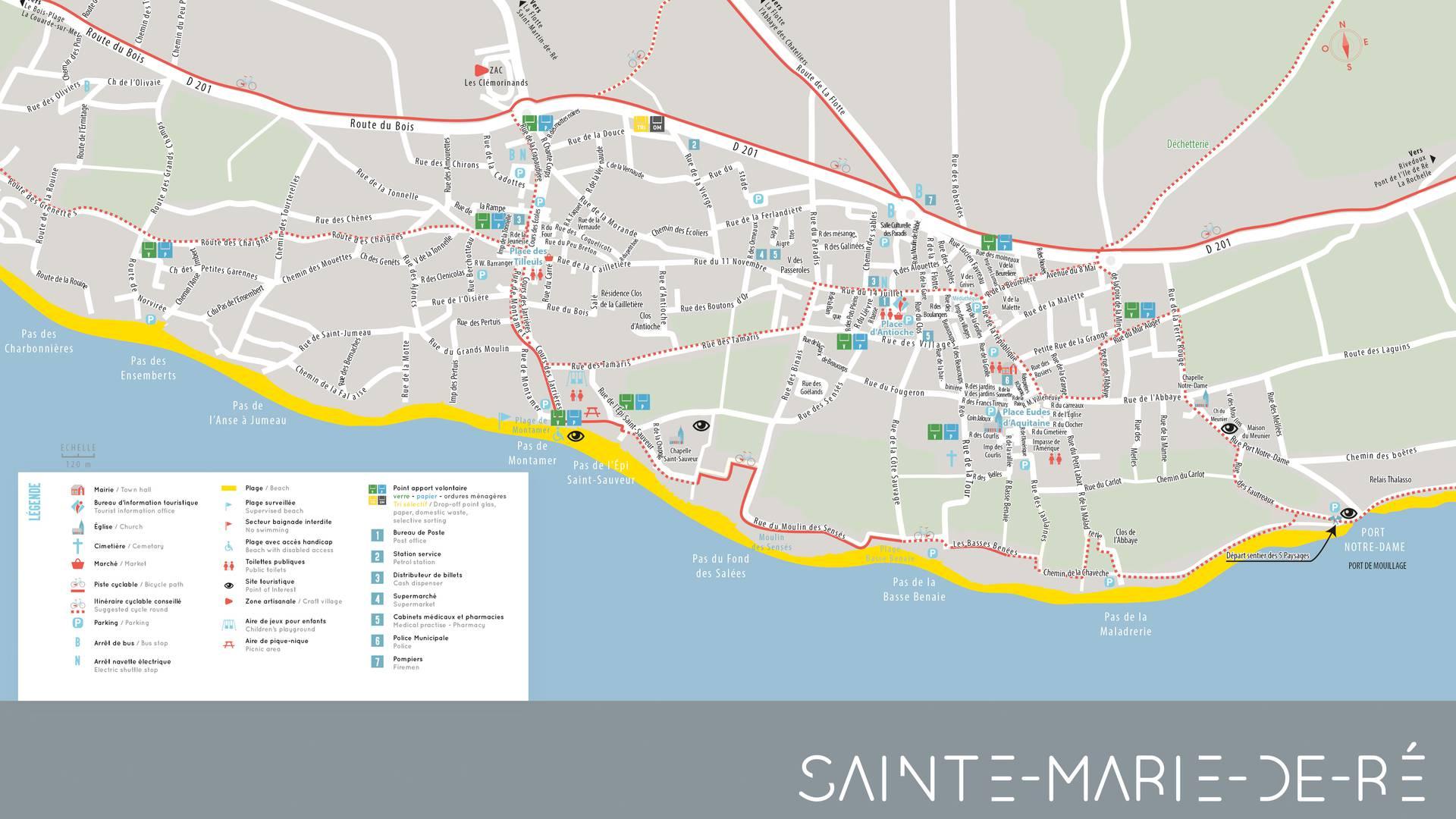 Plan île de Ré, village Sainte-Marie-de-Ré